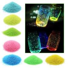 1 пакет для аквариума, флуоресцентные частицы, сделай сам, фосфоресцирующий песок, вечерние украшения, праздничные принадлежности, гравий, светящийся, светящийся аквариум
