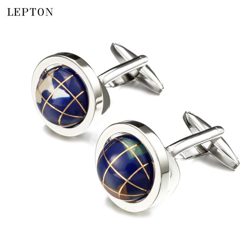 Купить новый глобус лептон запонки в виде земного шара для мужчин высокое