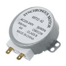 """Запчасти для AC 220-240V 50/60Hz 5/6 об/мин(4 Вт Проигрыватель Синхронный двигатель для miniwave 4 мм/0,1"""" ; основной Материал: металл; Цвет: как Pi"""