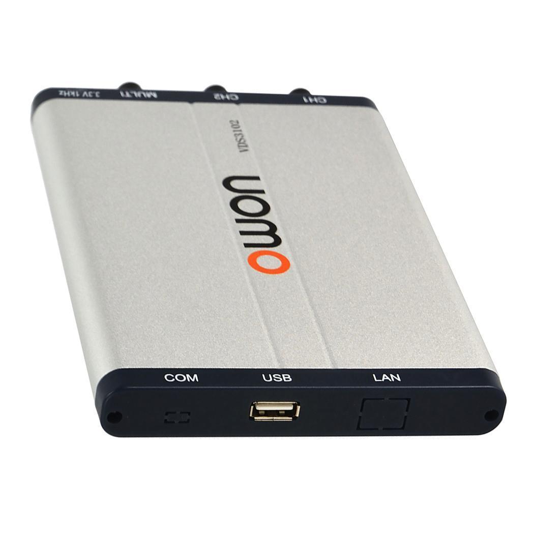 Portable oscilloscope numérique Sondes USB PC 25 MHz Bande Passante 100 MS/s taux d'échantillonnage en temps réel Vidéo Pente Pulse suppléant