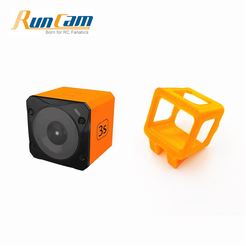 Runcam 3S WIFI 1080p 60fps WDR 160 Degree FPV Action Camera+35 Degree Inclined Base Camera Protective Frame Case for RC Drone