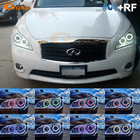 For Infiniti M37 M56 Q70 2011 2012 2013 2014 Excellent RF Bluetooth Controller Multi Color Ultra bright RGB LED Angel Eyes kit