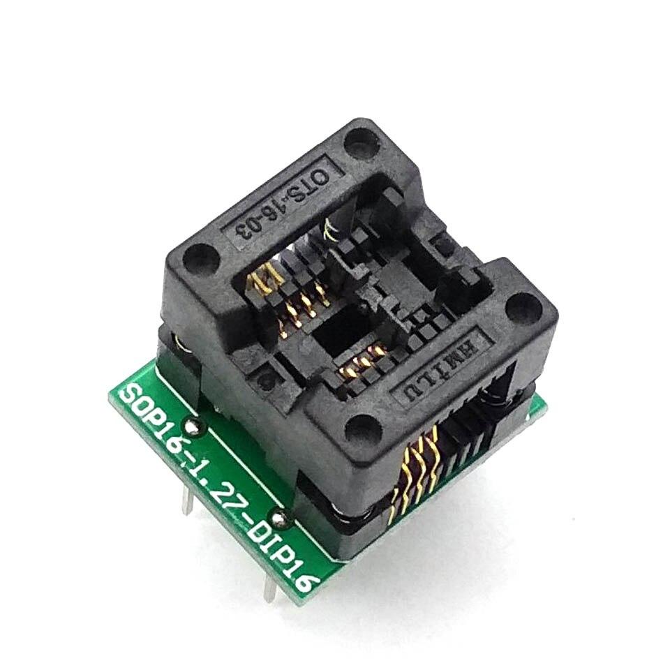 Blue SOP8 to DIP8 Wide-body Seat Wide 200mil Programmer Adapter Socket AM