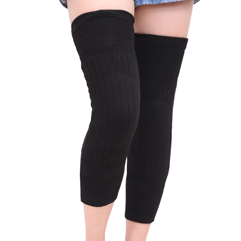 NEW-1 Pair Cashmere Warm Kneepad Knee Support Men And Women Cycling Lengthen Prevent Arthritis Knee Pad