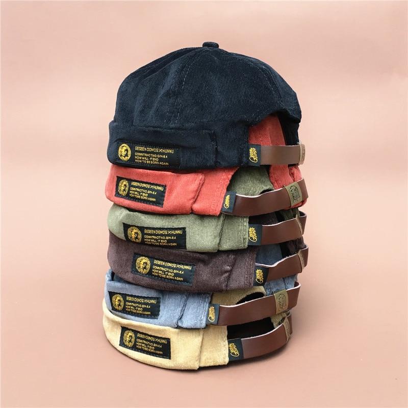 Seaman-Hat Skullcap Nothing Restore Autumn Tide Corduroy Brand Original Trend Ancient