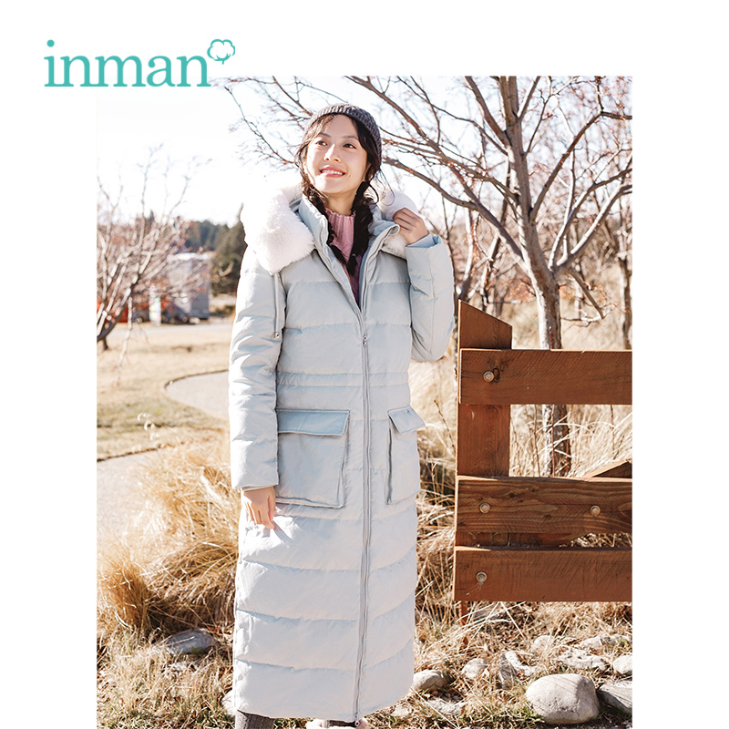 INMAN 2018 Winter New Arrival Hooded Women Fashion Thick Korean Style Wind Protection Style Women Lady Causal   Down     Coat