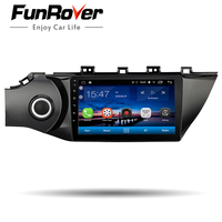 Funrover Car Radio Multimedia 9'' Android 8.0 2 din DVD player for KIA RIO K2 2017 2018 navigation stereo headunit recorder GPS