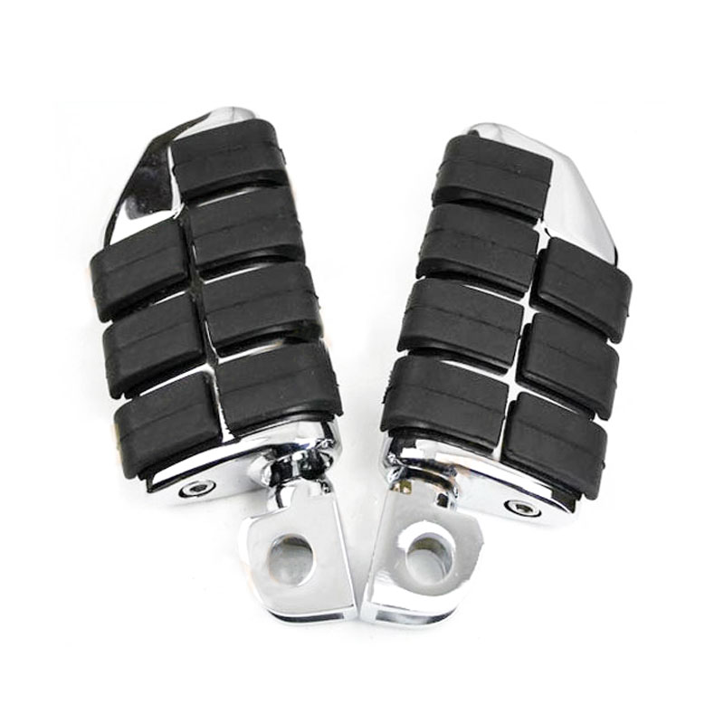 Front Rider Large Foot Peg For 1987 1999 98 Kawasaki Vulcan VN1500A VN1500B footpeg Rest pedal Aluminum Rubber Motorcycle Parts in Foot Rests from Automobiles Motorcycles