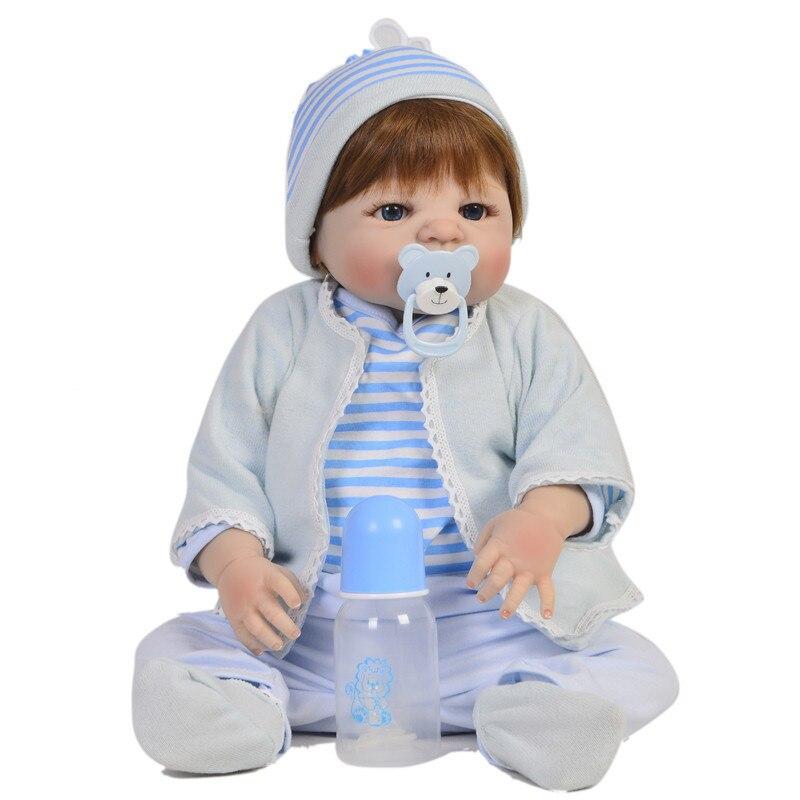 Bebe Reborn Doll Realistic 23 inch Full Silicone Reborn Baby Dolls Alive Reborns Toddler bebe Washable