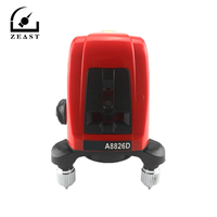 1pc A8826D AK435 Laser Level 2 Red Cross Line 1 Point 360 Degree Rotary Self leveling Nivel Laser Diagnostic Tools New