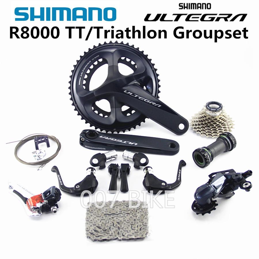 SHIMANO R8000 TT Triathlon Groupset ULTEGRA R8000 Derailleurs TT ROAD Bicycle 50 34 52 36 53