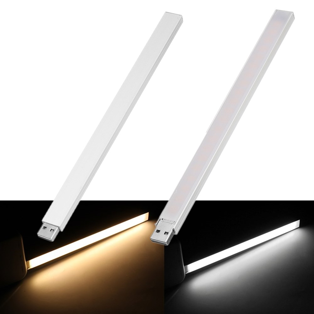CLAITE 21CM 21 LED Rigid Strip Light USB 4.5W SMD5730 T-ouch Switch Stepless Dimming LED Bar Light For PC Computer DC5V