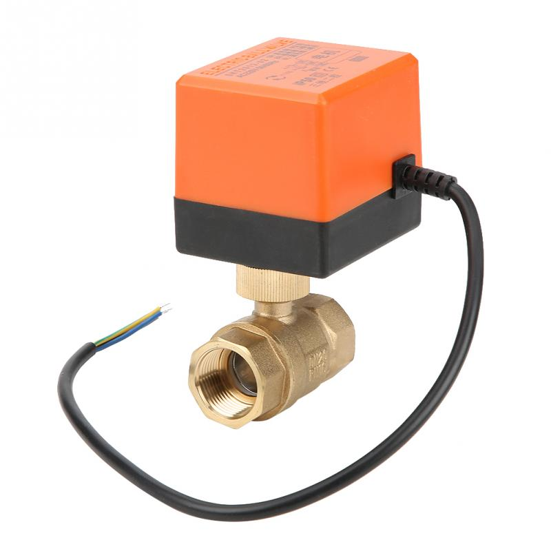 Ball Valve AC 220V G3/4 DN20 2-Way 3-Wire 2-Point Control Brass Electrical Motorized Ball Valve for controlling water system wire