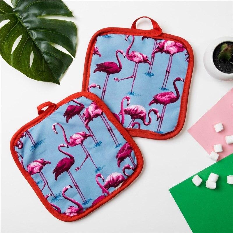 Кух. Set of 2 PR. Доляна Flamingo Col. blue, potholder 16*16 cm-2 pcs, 100% N/e 3840628 кух set of 2 pr доляна flamingo col green potholder 16 16 cm 2 pcs 100% n e 3840631
