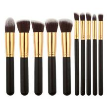 купить 10 Pcs Makeup Brushes Set 5pcs Large And 5pcs Small Make Up Tools Foundation Eye Shadow Eyebrow Brush Kit по цене 164.13 рублей