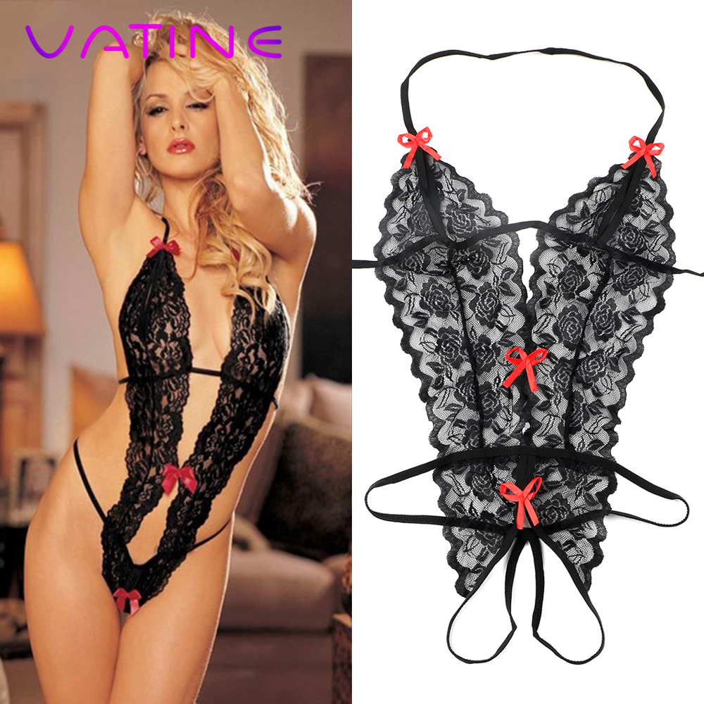 VATINE Lace Siamese Perspective Three-Point Underwear Erotic Lingerie Sexy Lingerie Adult Products G-string Sex Toys For Women