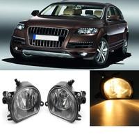 Pair Left/Right Side Car LED Light For Audi Q7 2010 2011 2012 2013 2014 2015 Car styling Front LED Fog Light Fog Lamp 4L0941700A