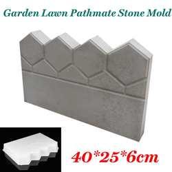 Античные плитки для постройки сада цементная форма садовый забор цементный камень форма бетон цветок бассейн рыба пруд лужайка во дворе