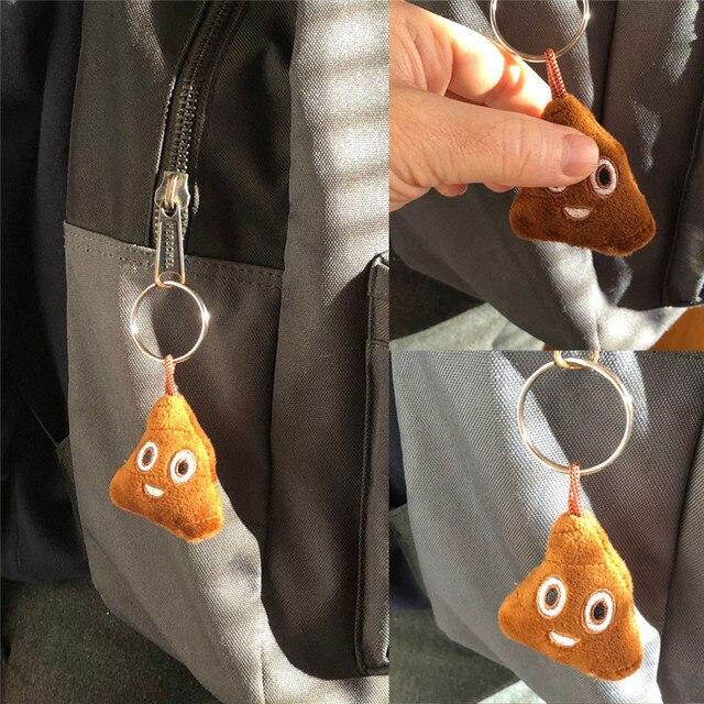 Bonito Plush Pompom Fofo Emoticon Keychain do Anel Chave de Cadeia Chaveiro Saco do Anel Chave saco Das Mulheres Dos Homens Pingente Chaveiro Llaveros Chaveiros
