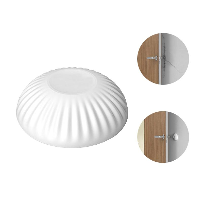 2pcs New Silicone Punching Free Door Handle Bumper Wall Protector Door Guard Stopper Wall Shield (White)
