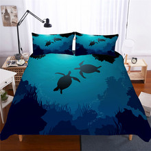 Bedding Set 3D Printed Duvet Cover Bed Sea Turtle Animal Home Textiles for Adults Lifelike Bedclothes with Pillowcase #HG01