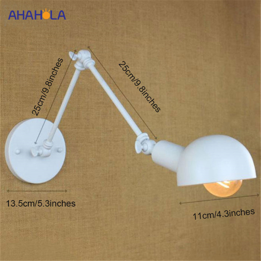 Wall Lamps Indoor Modern White E27 Wall Lamps for Living Room Reading 220v Led Wall Lights for Home Indoor Aplique Luz ParedWall Lamps Indoor Modern White E27 Wall Lamps for Living Room Reading 220v Led Wall Lights for Home Indoor Aplique Luz Pared