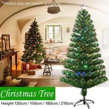 ( DE Ship )Colorful light Lamp Christmas Tree 1.2M 1.5M 1.8M 2.1M Green Xmas Tree Iron Stand Home Decoration arbol de navidad