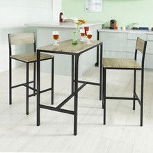 SoBuy OGT03 Home Kitchen Restaurant Bar Set Furniture Dining Set-1 Bar Table and 2 Stools sobuy fwt47 n wall mounted table kitchen dining wall children desk computer workstation
