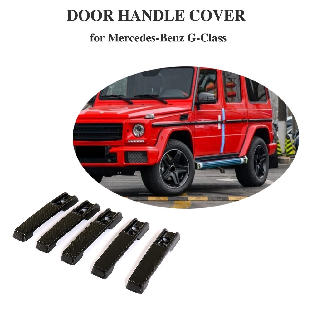 For Mercedes-Benz G500 2004 - 2018 <font><b>G55</b></font> <font><b>AMG</b></font> 2004 - 2010 4-Door Carbon Fiber Door Handle Covers Trim 4pcs/set image
