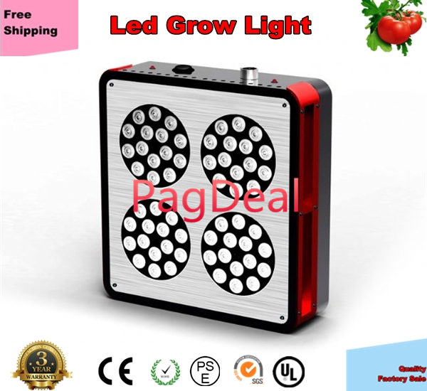 Hotsale Apollo Led Grow Light 60x3W 6 Band Flowering Hydroponic LED Grow Lamp Panel 400W HID Replacement Free Shipping