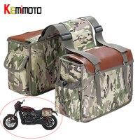 KEMiMOTO Saddlebags Motorcycle Bags Travel Knight Rider Desert Camouflage For Yamaha For Triumph Waterproof Nylon