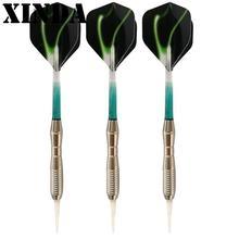 New 3Pcs/set Soft Tip Darts Nickel Plated Electronic Dart Aluminum Alloy Shaft Green Blue Orange Dart Tip Shafts Flights FBY2906