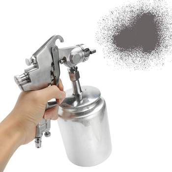 Heavy 3mm Electric Paint Sprayer Gun With Nozzle Suction And 1L Pot Handheld For Easy Spraying