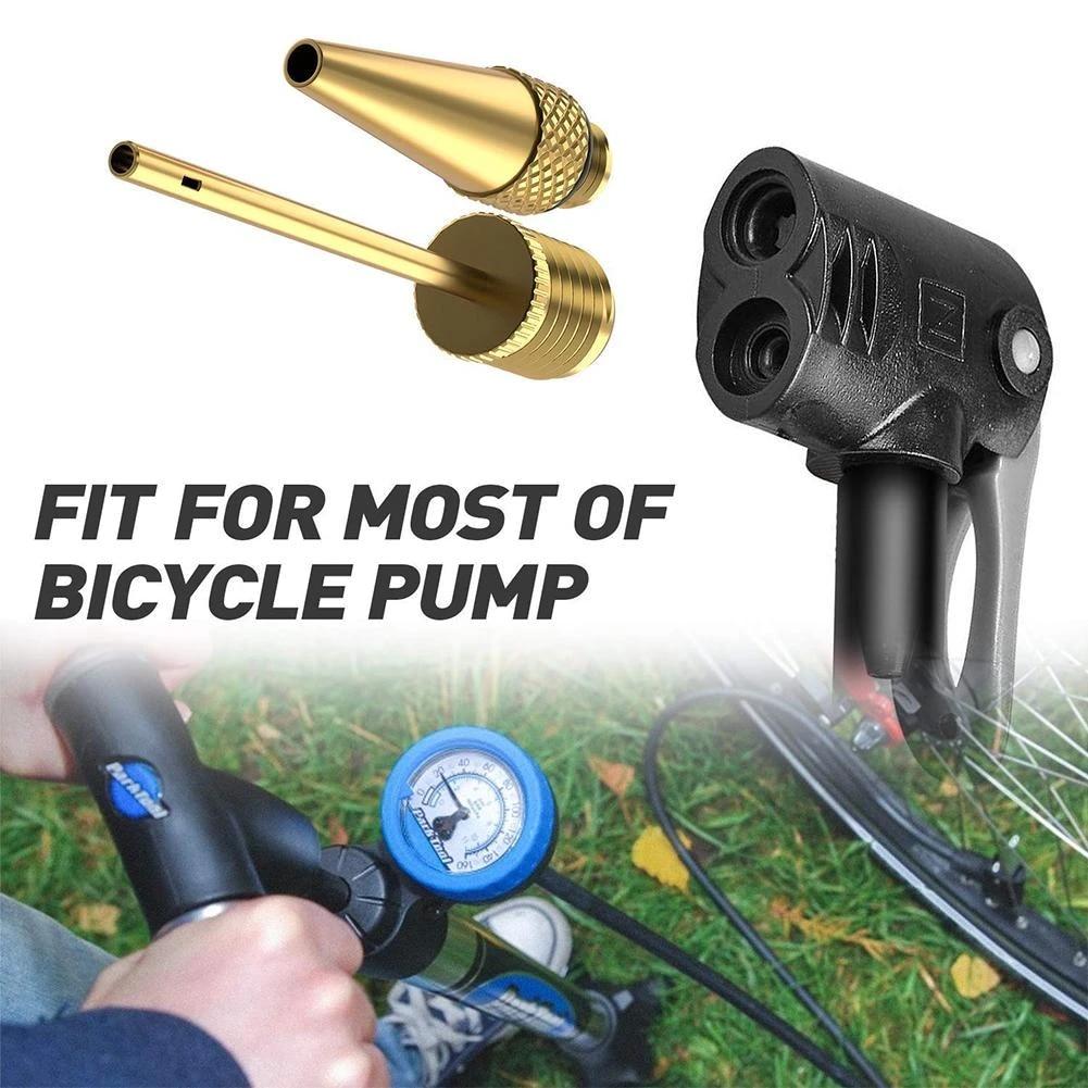 14pcs Bicycle Tire Ball Air Pump SV AV DV Valve Copper Plastic Adapter UK Stock