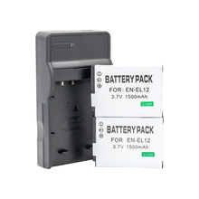 2 шт. EN-EL12 EN EL12 Батарея+ 1 шт зарядное устройство для Nikon CoolPix S610 S620 P300 P310 P330 S6200 S6300 S9400 S9500 S9200