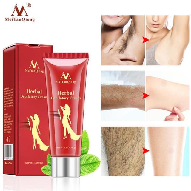 MeiYanQiong Whitening Herbal Depilatory Cream Herbaceous Depilate Cream Gentle Painless Hair Removal Cream Soften Hair Skin Care