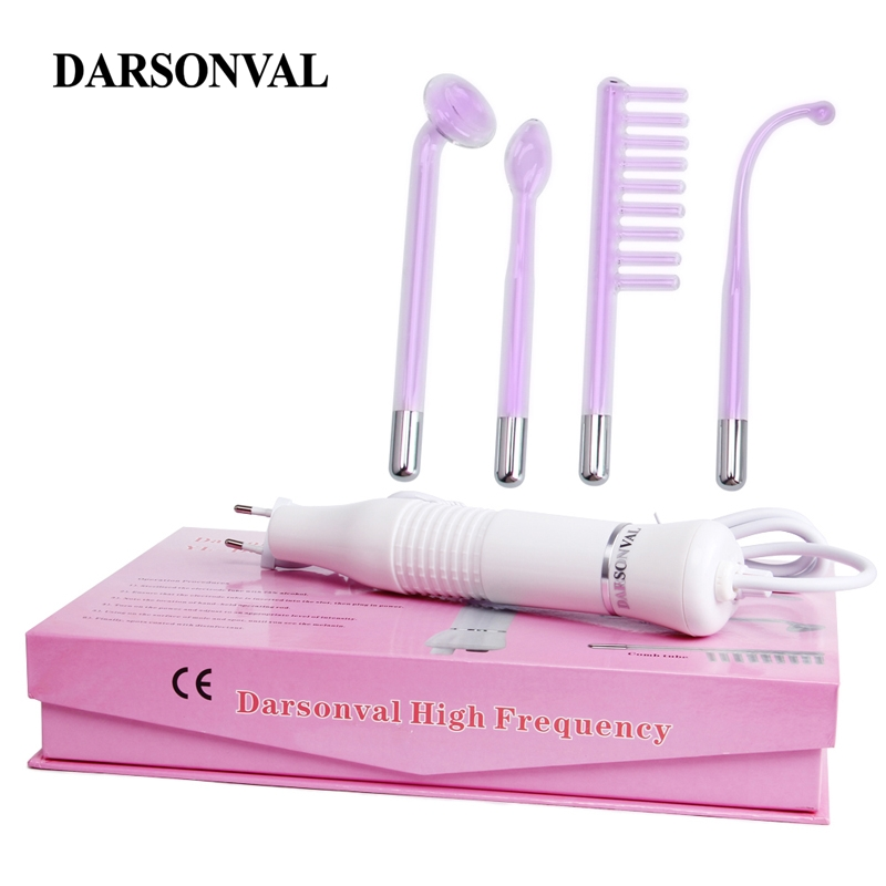 DARSONVAL Portable High Frequency Violet Purple Light Acne Spot Remover Face Massager Massageador Facial Skin Care Device SPADARSONVAL Portable High Frequency Violet Purple Light Acne Spot Remover Face Massager Massageador Facial Skin Care Device SPA