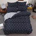BEST luxury black strips Duvet Cover flat bed Sheets +Pillowcase King Queen full Twin Bedding Set Bedding Set 3/4pcs31