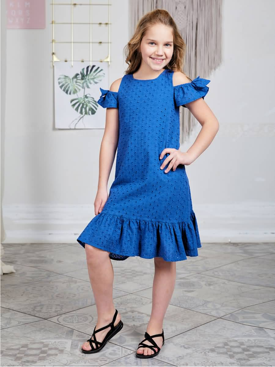 Dress sewing Luminoso for girls girls zip back appliques armhole dress