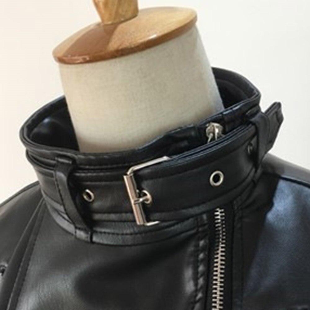 Cintura Ispessisce Caldo Volpe Del Gotico Motociclo Cuoio Strada Polsini Donne Di Cappotti Dell'unità Giubbotti Elaborazione Inverno Moda Delle Il Pelliccia Faux Nero Punk xxn7z6O