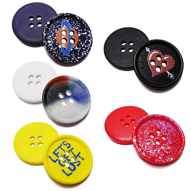 ZIEENE livraison gratuite 1000 pièces nouveau Topper Laser grande peinture résine boutons couture Scrapbooking artisanat pour pardessus fait main 4 trous