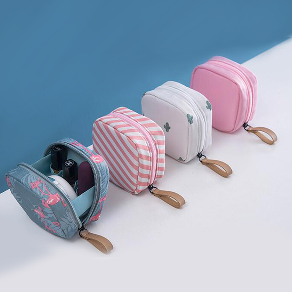 Portable Flamingo Cactus Striped Cosmetic Bags Travel Toiletry Storage Makeup Bag Organizer Box Zipper Beauty Case Neceser MujerPortable Flamingo Cactus Striped Cosmetic Bags Travel Toiletry Storage Makeup Bag Organizer Box Zipper Beauty Case Neceser Mujer