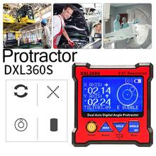High-precision DXL360S Dual Axis Digital Angle Protractor Dual-axis Digital Display Level Gauge With 5 Side Magnetic Base