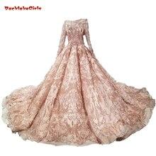 Vestido de novia de oro rosa Bling lentejuelas vestido de baile nupcial  2018 oro vestidos de 61bbf5422303