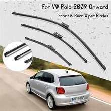 """3 шт./компл. 2""""+ 16""""+ 1"""" автомобилей спереди и сзади стеклоочиститель лезвия для VW Polo 2009 вперед хэтчбек 3/5 двери"""