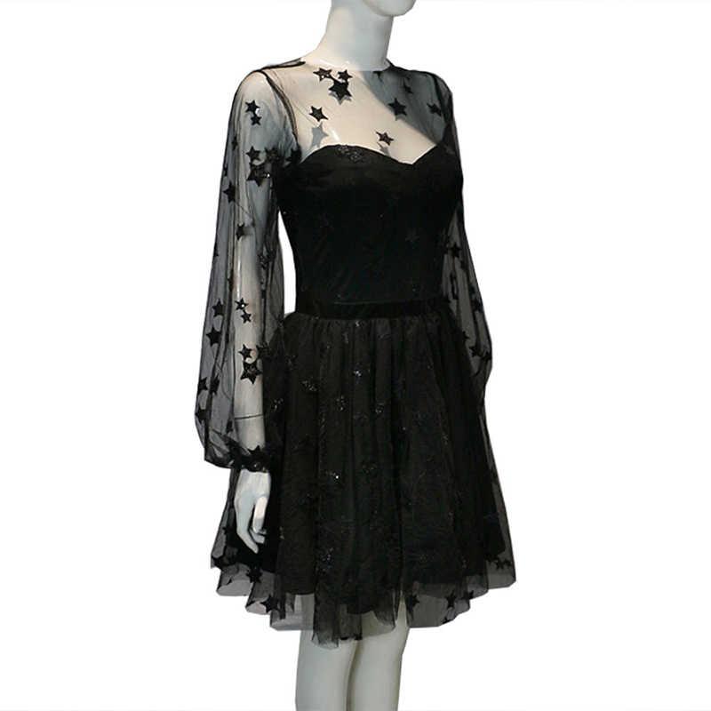 Женское сексуальное мини-платье с круглым вырезом и длинным рукавом, вечерние Женская одежда для клуба, элегантный костюм