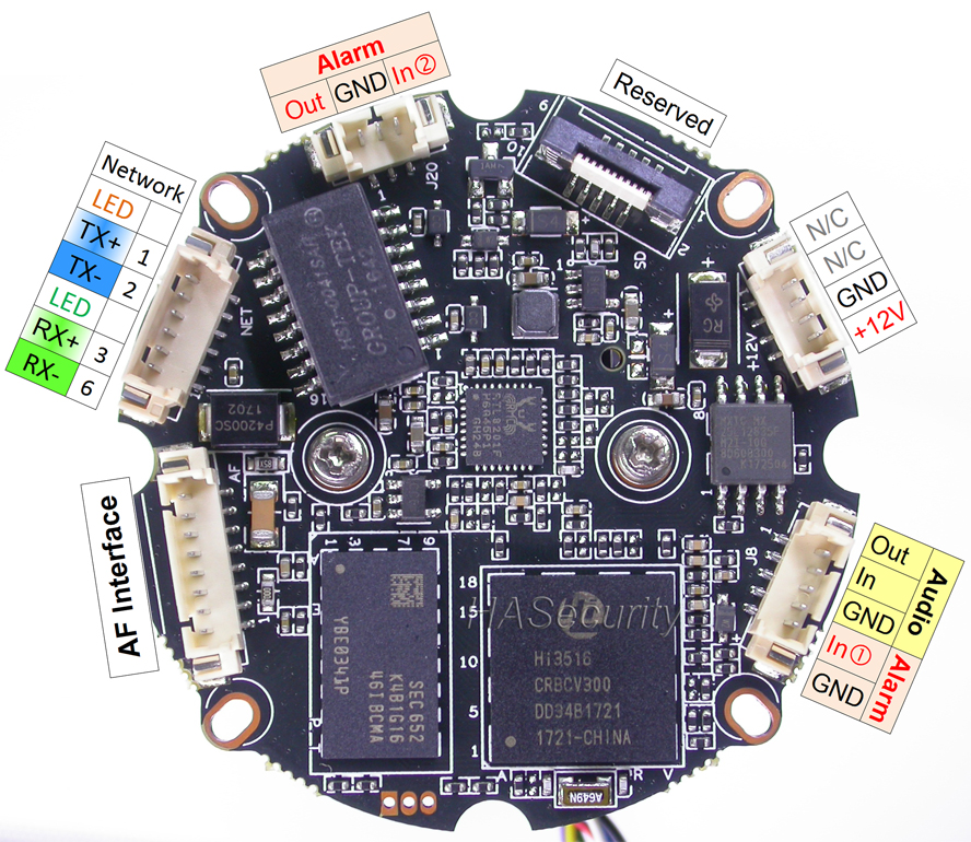 "Image 5 - H.265 H.264 motorized 2.7 12mm Zoom & Auto Focus LENs 1/2.8"" SONY STARVIS IMX291 CMOS Hi3516C CCTV IP camera PCB board module-in Surveillance Cameras from Security & Protection"