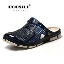 2019 New Mens Sandals Summer Jelly Eva Hollow Man Slippers Garden Shoes Fashion Breathable Beach Lighted Flip Flops Flats Water недорого