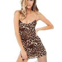 9a9f9b712e Hirigin 2019 New Womens Ladies V Neck Leopard Printed Bodycon Slip Mini  Dress Hot Party Dress