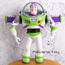 Toy story 3 Talking Buzz Lightyear zabawki światła głosy mówią po angielsku wspólne ruchome figurki prezent dla dzieci tanie tanio Flevans Model Wyroby gotowe Unisex not for children under 3 years 30cm Remastered version 5-7 lat 8-11 lat 12-15 lat Dorośli